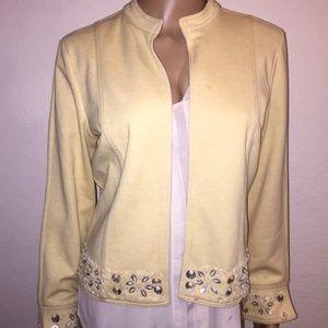 Bloomingdales embellished crop jacket